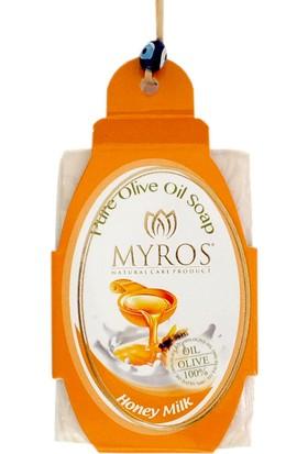 Myros 3'Lü Bal Ve Süt Özlü Zeytinyağı Sabunu - 80 Gr