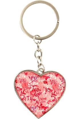 Myros Aşk Temalı Kalp Şekilli Anahtarlık