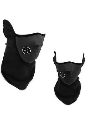 ModaCar Motorsiklet Yazlık Neopren Yarım Siyah Yüz Maskesi 105095