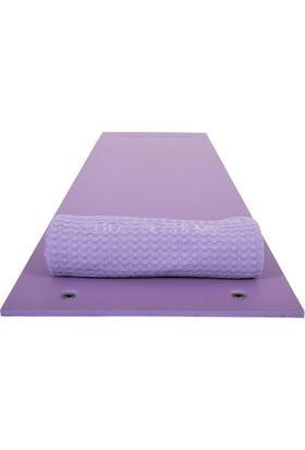 Yoga Academy Yüksek Isı Yalıtımlı, Su Geçirmeyen Yoga, Pilates ve Kamp Matı, Lila, 10 mm, 190x60 cm