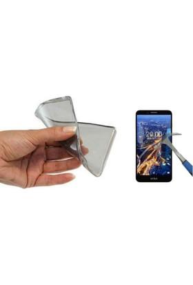 Teknoarea Vestel V3 5580 0.2mm Ultra İnce Silikon Kılıf + cam