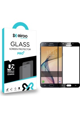 Eiroo Samsung Galaxy J5 Prime Curve Tempered Glass Full Cam Ekran Koruyucu