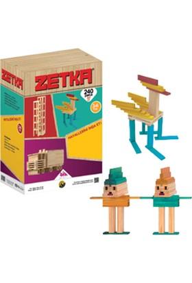 Zet Zeka 240 Doğal + Renkli Parça