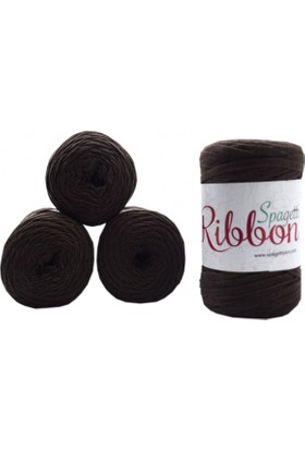 Spagetti Yarn Ribbon 4'lü Set Orta Kahve Ribbon11