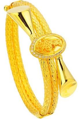 Bilezikhane Tuğralı Kelepçe 28,00 Gram 22 Ayar Altın