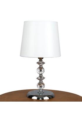 Superlight Fourtop Abajur. Beyaz Şapkalı - Krom