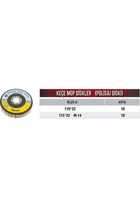 Nora Keçe Mop Disk Q110X22