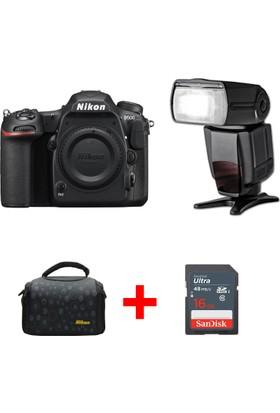 Nikon D500 Body + TTL Flaş + Çanta + 16 GB SD Hafıza Kartı