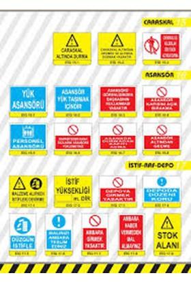 Enz 570-2 25X35 İş Güvenliği Levhası Plastik