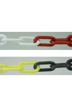 Enzet Plastik Zincir No:5 Kırmızı-Beyaz 1 Metre