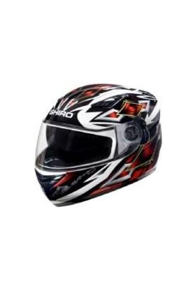 Prc Kask Shıro Full Face Vizörlü Kapalı Desenli Sh 3700 Motorland