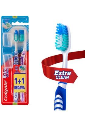 Colgate Diş Fırçası Extra Clean Orta 1+1 Seyahat Başlığı Hediyeli