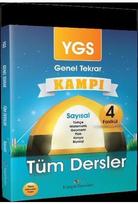Kampüs Yayınları Ygs Tüm Dersler Genel Tekrar Kampı Sayısal Tüm Dersler