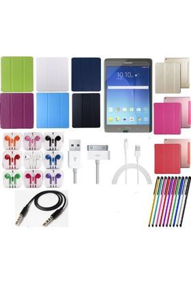 Fujimax Mustek Samsung Tab T580 Smart Case Tablet Kılıf+Film+Kalem+Aux Kablo+Kulaklık+ Şarj Kablosu