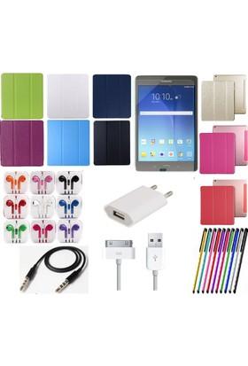 Fujimax Mustek Samsung Tab T110/T113/T116 Smart Case Tablet Kılıf+Film+Kalem+Aux Kablo+Kulaklık+ Şarj Seti