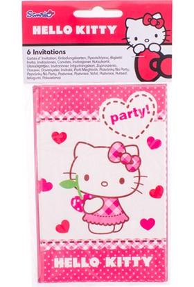LoveQ Davetiye Hello Kitty Hearts 6'lı Pk