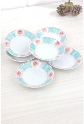 LoveQ Porselen 6'lı Çay Tabağı