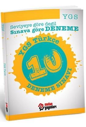 Metin Yayınları YGS Türkçe 10 Deneme Sınavı