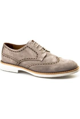 Cabani Bağcıklı Günlük Erkek Ayakkabı Bej Süet