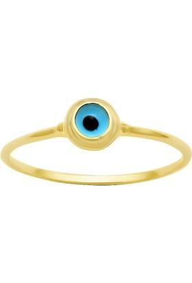 Altında Moda Mavi Gözlü Trend Yüzük
