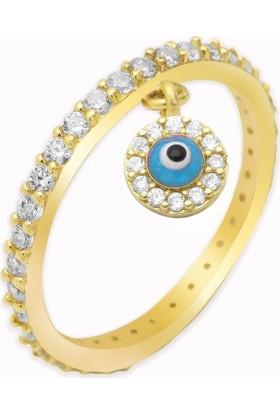 Altında Moda Sallantılı Mavi Göz Tamtur Yüzük