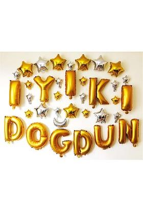 KullanAtMarket İyi Ki Doğdun Altın Harf Folyo Balon Set 35Cm