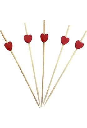 KullanAtMarket Kalp Bambu Kürdan