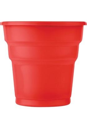 KullanAtMarket Kırmızı Plastik Meşrubat Bardağı 10'Lu