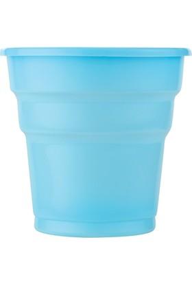 KullanAtMarket Bebek Mavisi Plastik Meşrubat Bardağı 10'Lu