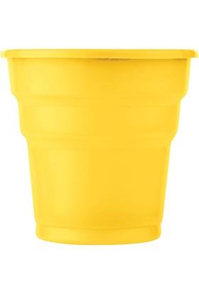 KullanAtMarket Sarı Plastik Meşrubat Bardağı 10'Lu