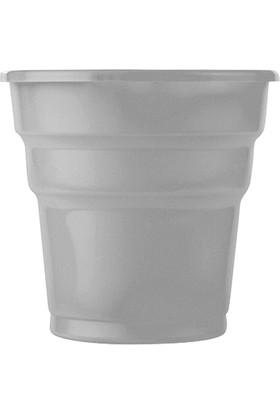 KullanAtMarket Gümüş Plastik Meşrubat Bardağı 10'Lu