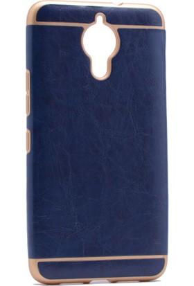 Kny General Mobile Gm5 Plus Kılıf Deri Desenli Sude Silikon+Cam