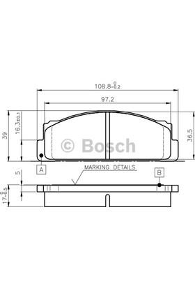 Parçacım Ön Fren Balatası Murat 124 M131 Bosch Marka