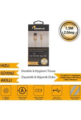 PinPuk Metal Apple Kablo Gold