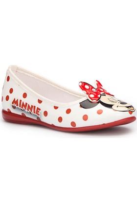 Mickey Mouse Fangs Beyaz Kız Çocuk Babet
