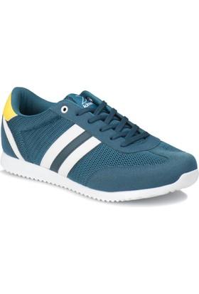 Kinetix Avıla M Mesh Petrol Beyaz Koyu Sarı Erkek Sneaker Ayakkabı
