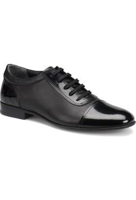 Garamond 6024 M 1453 Siyah Erkek Deri Klasik Ayakkabı