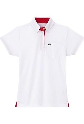 Yonex Badminton Tenis L-2200 Kadın Polo -Beyaz