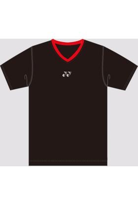 Yonex Badminton Tenis Yt1000 V-Yaka Tişört Unısex - Siyah