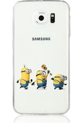 MobilGiydir Samsung Galaxy Note 2 Gitarlı Minion Silikon Kılıf