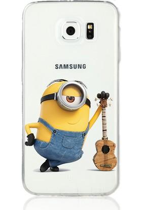 MobilGiydir Samsung Galaxy Note 4 Tekli Gitarlı Minion Silikon Kılıf