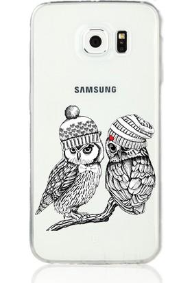 MobilGiydir Samsung Galaxy Note 5 Romantik Baykuş Silikon Kılıf