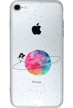 Microsonic Apple iPhone 7 Desenli Kılıf Gezegen