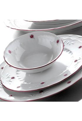 Kütahya Porselen Mina Pembe 6 Kişilik 24 Parça Yemek Takımı