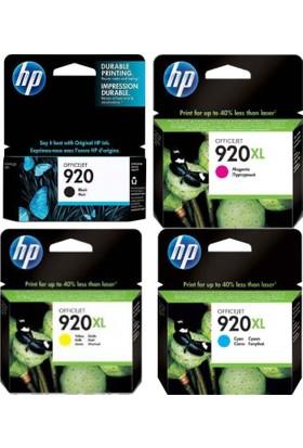 HP 920 SİYAH / 920XL RENKLİ CD972A / CD973A / CD974A Orijinal 4'Lü Kartuş Seti