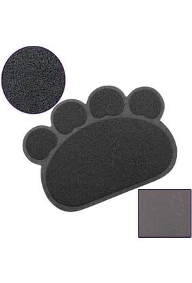 Catmat Pati Desenli Kedi Paspası Koyu Gri 60X45 Cm
