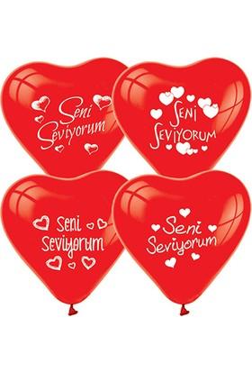 Zoziko 100 Adet Seni Seviyorum Kalp Balon