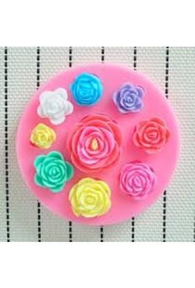 Pasta Mağaza Minik Çiçekler Silikon,Mum,Kokulu Taş Kalıbı