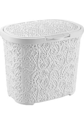 Tuffex Dantel Oval Deterjanlık - Beyaz