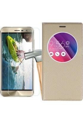 Tg Asus Zenfone 3 Ze552Kl Pencereli Kılıf + Ekran Koruyucu